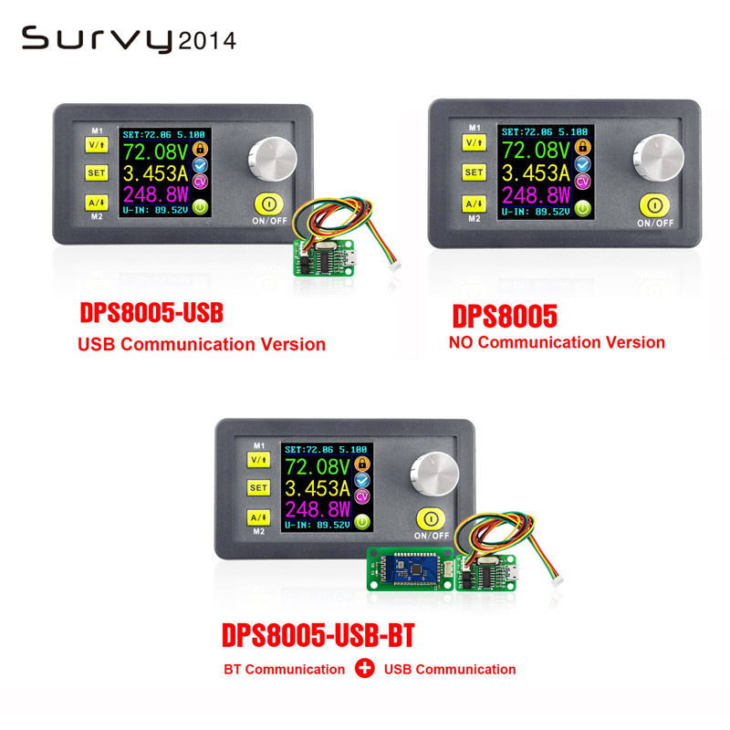 DPS8005 ЖК-дисплей цифровой программируемый Постоянное Напряжение Ток понижающий питание модуль понижающий преобразователь DC 0-80,00 в 0-5.100A