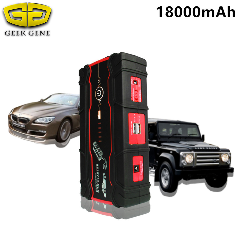 18000mAh Car Jump Starter 800A Portable Starting Device Power Bank 12V Car Charger For Car Battery Booster Buster Car Starter multi function 18000mah car jump starter 800a 12v portable starting device power bank car charger for car battery auto starter