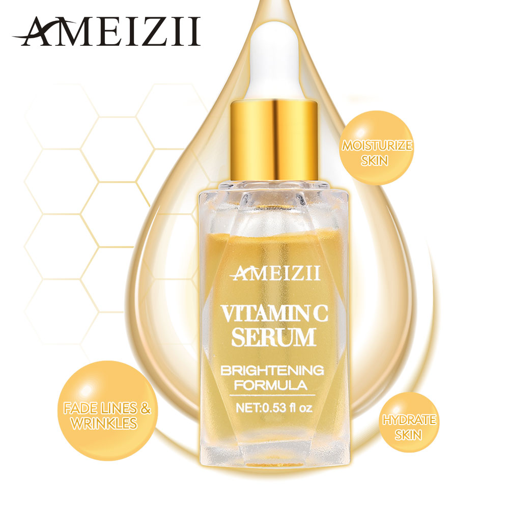 AMEIZII Vitamin C Face Serum Hyaluronic acid Anti Wrinkle Whitening VC Essence Face Cream Remover Freckle Acne Facial Skin Care in Serum from Beauty Health