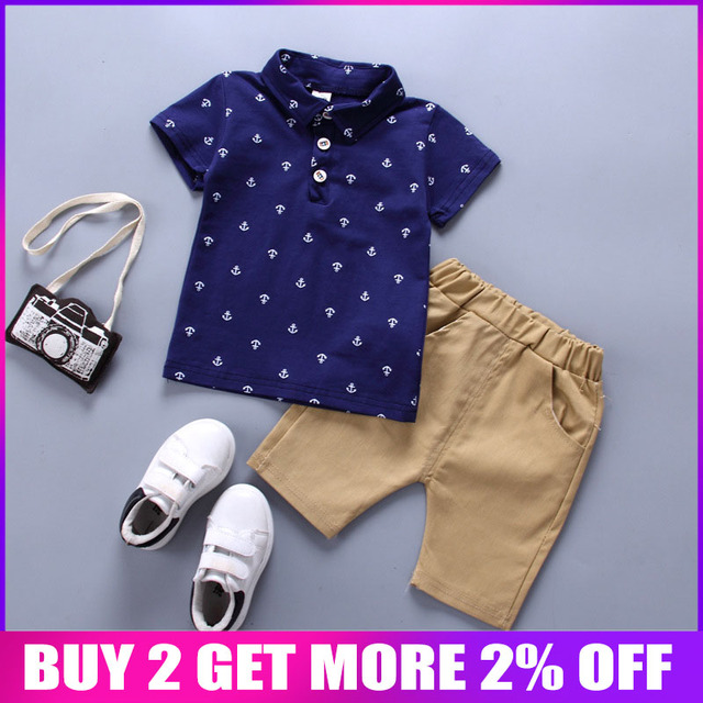 BibiCola Boys Clothing Sets Summer Baby Boys Clothes Suit Gentleman Style Polo Shirt +Pants 2pcs Clothes for Boys Summer Set