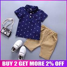 b37d7e420 BibiCola niños conjuntos de ropa de verano ropa de bebé niños traje de  caballero estilo Polo