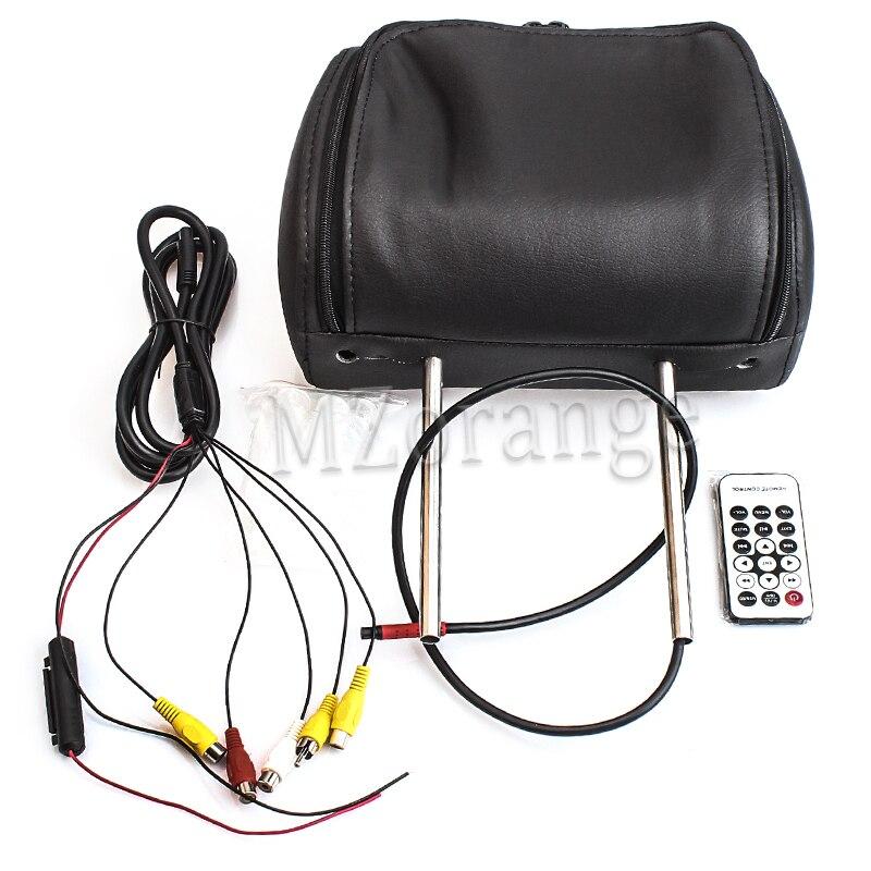 Mzorange 7 pouce Général Voiture Appui-Tête Moniteur de voiture Moniteur avec le bouton tactile et télécommande Beige/Gris/Noir AV USB SD MP5 FM