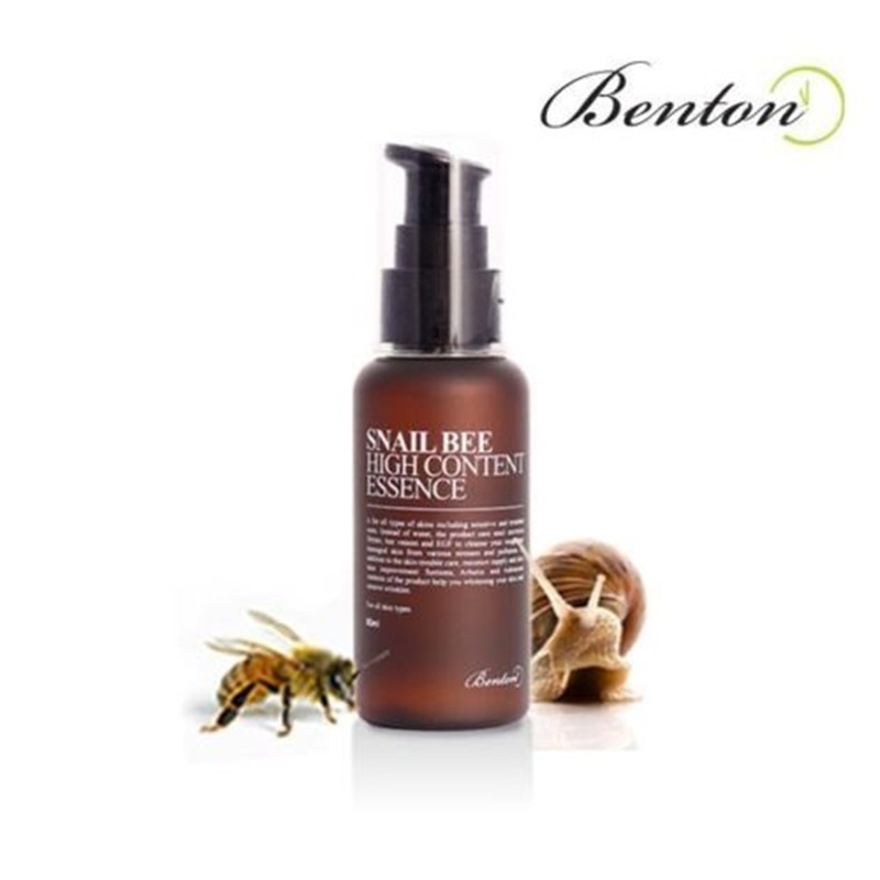 BENTON SNAIL BEE HIGH CONTENT ESSENCE 60ml Face Cream Skin Care Moisturizing Whitening Day Cream Anti Wrinkle Snail Cream lution potty face whitening moisturizing to yellow micro needle roller plastic for the essence of fine freeze dried
