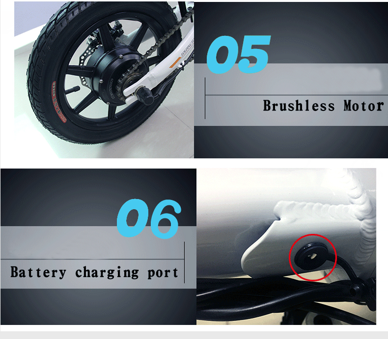 Clearance 14inch folding electric bike mini lithium battery bicycle Portable adult  powered motorcycles Two-disc brakes electric bicycle 11