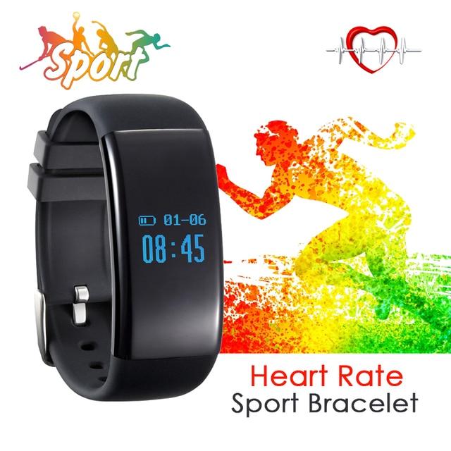 TEAMYO Sport Smartband Waterproof Health Fitness Tracker Pedometer Bracelet Heart Rate Monitor Watch Smart Wristband Alarm Clock