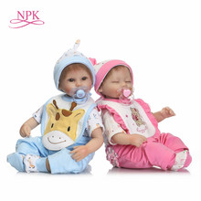 hot sale bebes reborn dolls silicone reborn baby cute realistic babies XMAS Gift for girls bed time early education toy Bonecas(China)