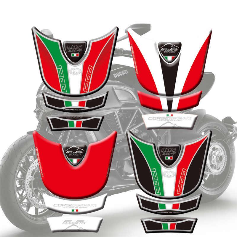 Nuovo Carro Armato Del Motociclo Decalcomanie 3D Pad Serbatoio Lisca di Pesce Sticker Rilievo del Carro Armato Protector Per Ducati Multistrada 1200 2010 11 12 13 14