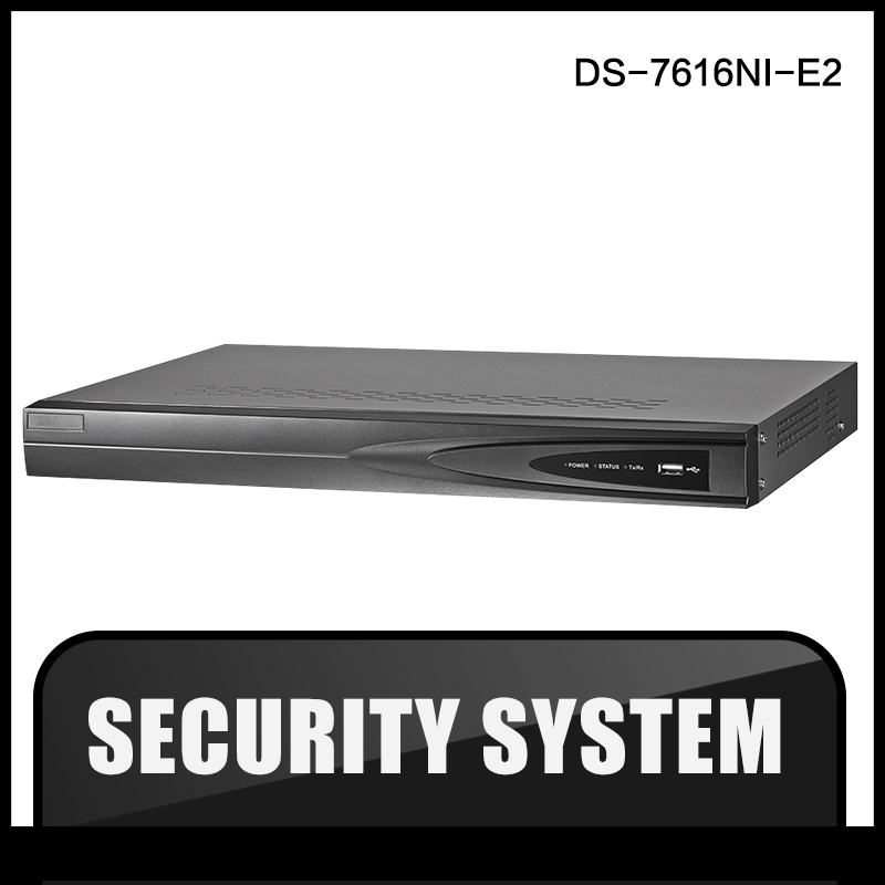 DS-7616NI-E2 Original English Version NVR 16ch Independent Network Interfaces Case NVR HD 1080P Network Video Record CCTV IPC 16ch 8poe nvr 7616ni se p original english version