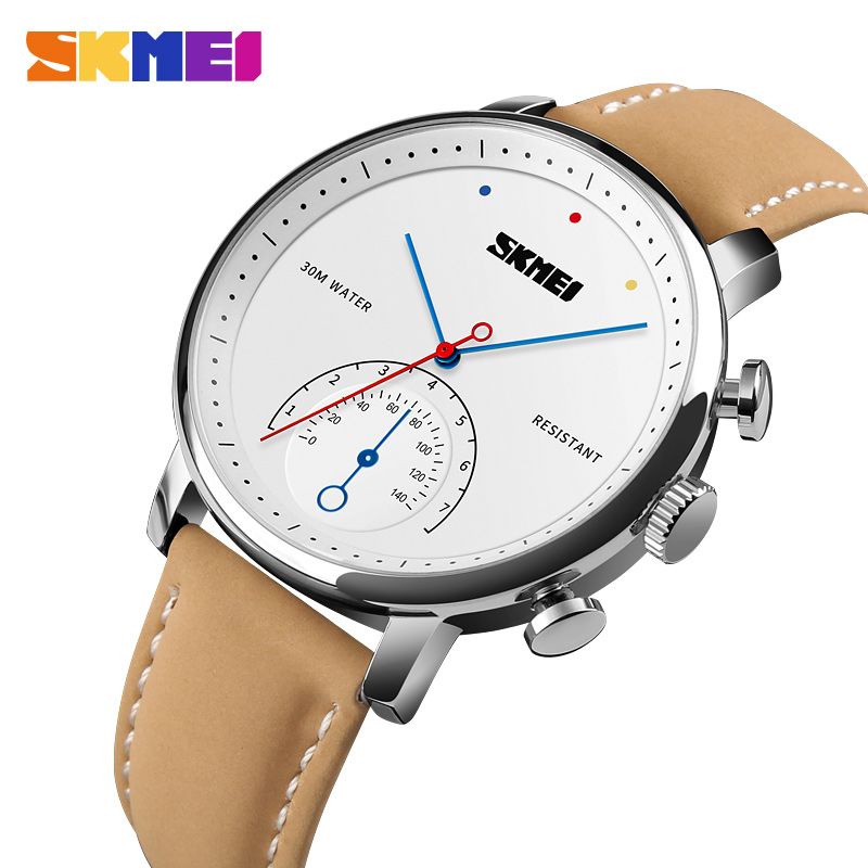 SKMEI Simple Casual Quartz Watch Men Leather Strap Watches Luxury Top Brand Wristwatches Male Clock Watch Relogio Masculino 1399 chronos brand fashion men s watch casual ladies quartz watch simple nylon strap hit color couple watch relogio masculino
