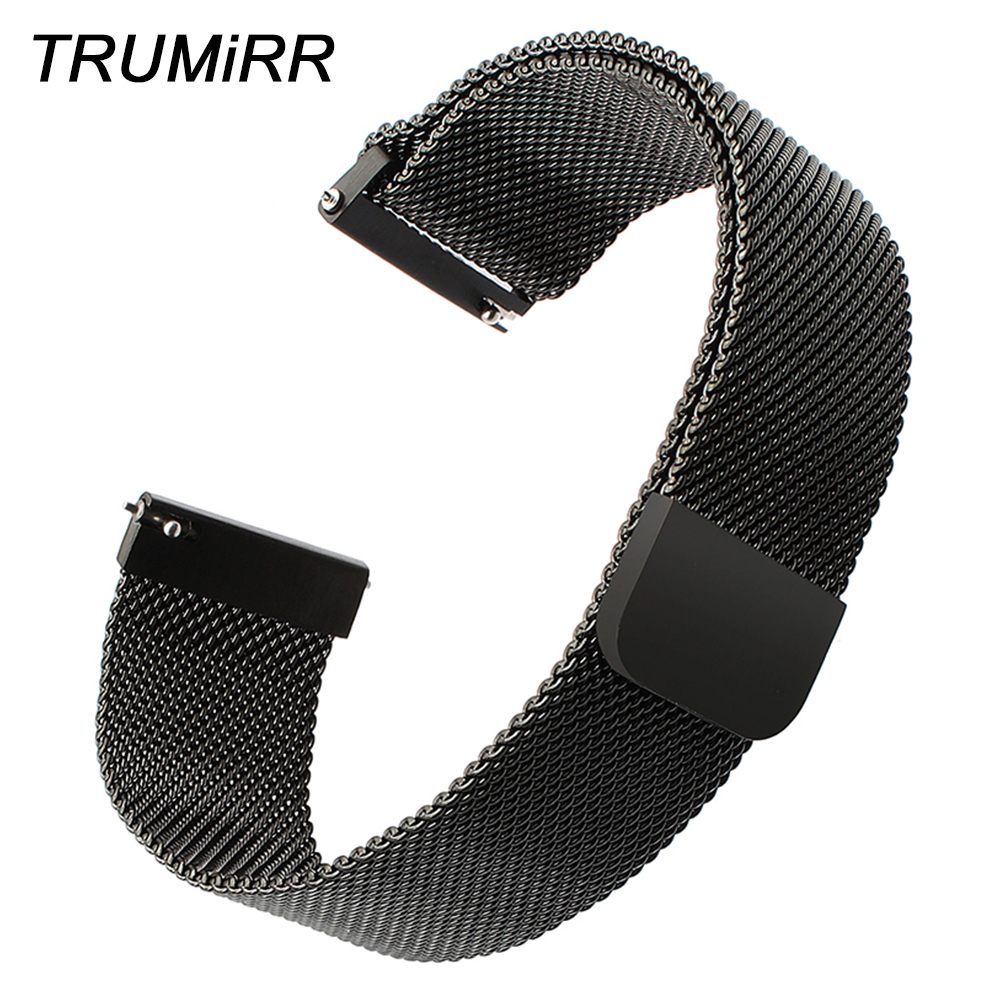 Milanese Loop Stainless Steel Watchband 14mm 16mm 18mm 20mm 22mm 24mm Quick Relase Watch Band Magnetic Strap Universal Bracelet new watch band 14mm 16mm 18mm 20mm 22mm 24mm 26mm black stainless steel watch band strap straight end bracelet