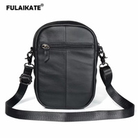 da4d3b927a377 FULAIKATE Large Size Genuine Leather Universal Bag For Mobile Phone Case  Outdoor Shoulder Strap Vertical Pouch