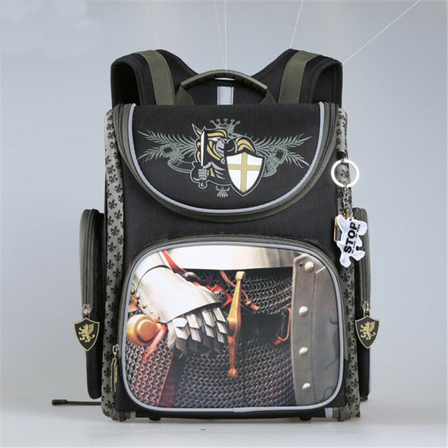 Children Orthopedic Backpack Boys Military Theme School Bags Girls Cartoon Pattern Waterproof Primary Book Bag Mochila Escolar