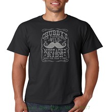 56dd69797ff 2018 New Short Sleeve Men Tshirt Chubby s Wild Mustache Ride T Shirt Mens  Tee S-