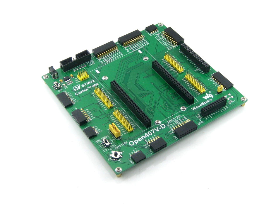 5pcs/lot STM32 Board STM32F4DISCOVERY STM32F407VGT6 STM32F407 STM32 ARM Cortex-M4 Development Board Open407V-D Standard black plastic ads iar stm32 jtag interface jlink v8 debugger arm arm7 emulator cortex m4 m0