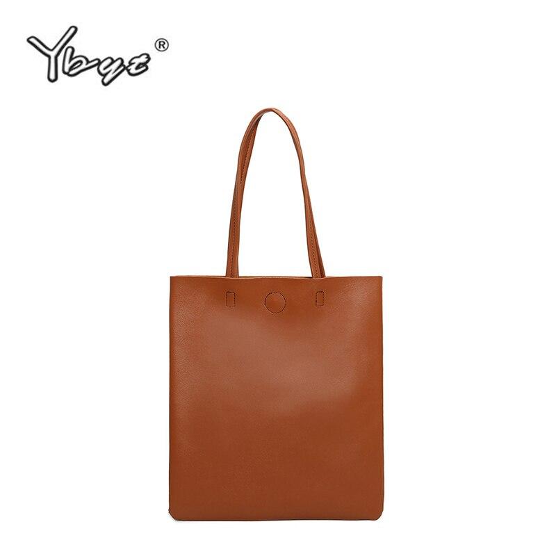 Женская сумка для отдыха YBYT, мягкая сумка через плечо из искусственной кожи в стиле преппи, 2019