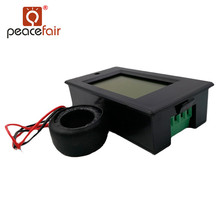 PEACEFAIR  Single Phase AC 80-260V 0-100A 4IN1 voltage current power energy Voltmeter Ammeter Digital Panel Meter + Coil CT