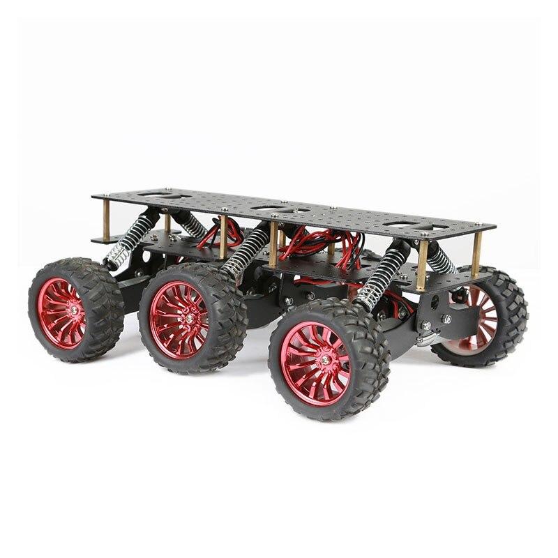 2018 pour Arduino Raspberry Pie WIFI système de voiture 6WD plate-forme de recherche et de sauvetage châssis de voiture intelligente choc escalade tout-terrain