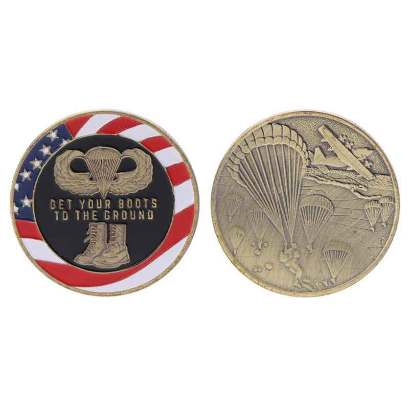 Tourist Souvenir Airborne Paratroopers Series Commemorative Coin Coins Collection Alloy Art Craft Special Gift