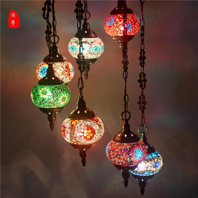 turkish moroccan pendant light handmade mosaic stained ...