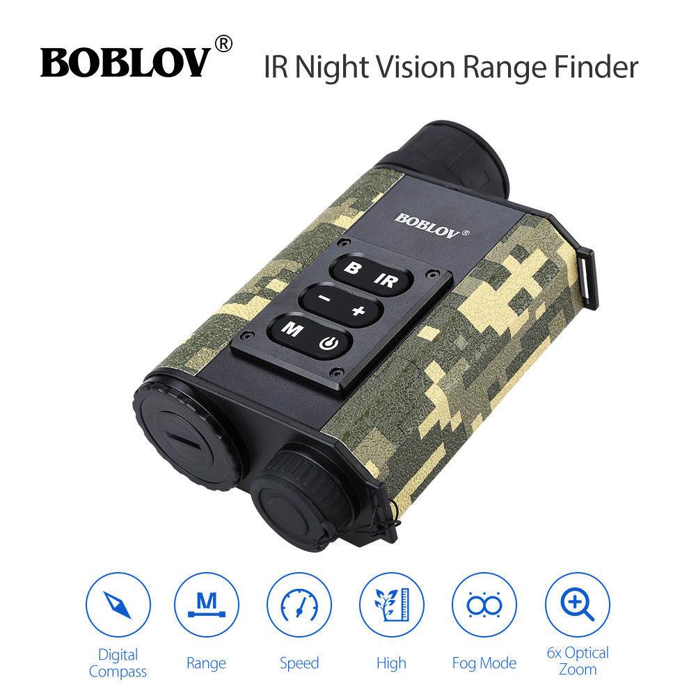 BOBLOV LRNV009 6X32 500 m Allant Finder IR Nuit Vision Multifonctionnelle Monoculaire Télescope Boussole Camouflage Chasse En Plein Air