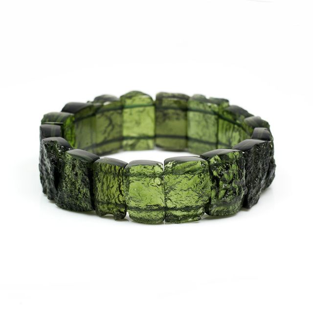 Exquisite Moldavite Bracelet Green Crystal Tourmaline Birthday Gift