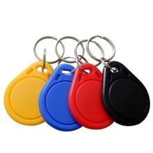 1PCS RFID S50 IC מפתח תגיות Keyfobs אסימון NFC תג Keychain 13.56MHz פלסטיק ABS עמיד למים צבע אקראי