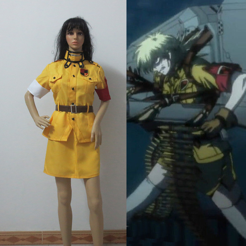 Custom Made Any Size Yellow Hellsing Seras Victoria Cosplay Costume Dress