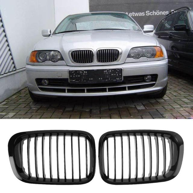 Us 24 16 18 Off 1 Pair Front Grille Bumper Hood Grill Grilles For Bmw E46 Four Doors 98 01 High Quality Auto Car Accessory Racing Grills New In