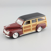 1 43 Scale Brand Mini Antique 1948 Ford Woody Woodie Die Cast Metal Modeling Auto Cars