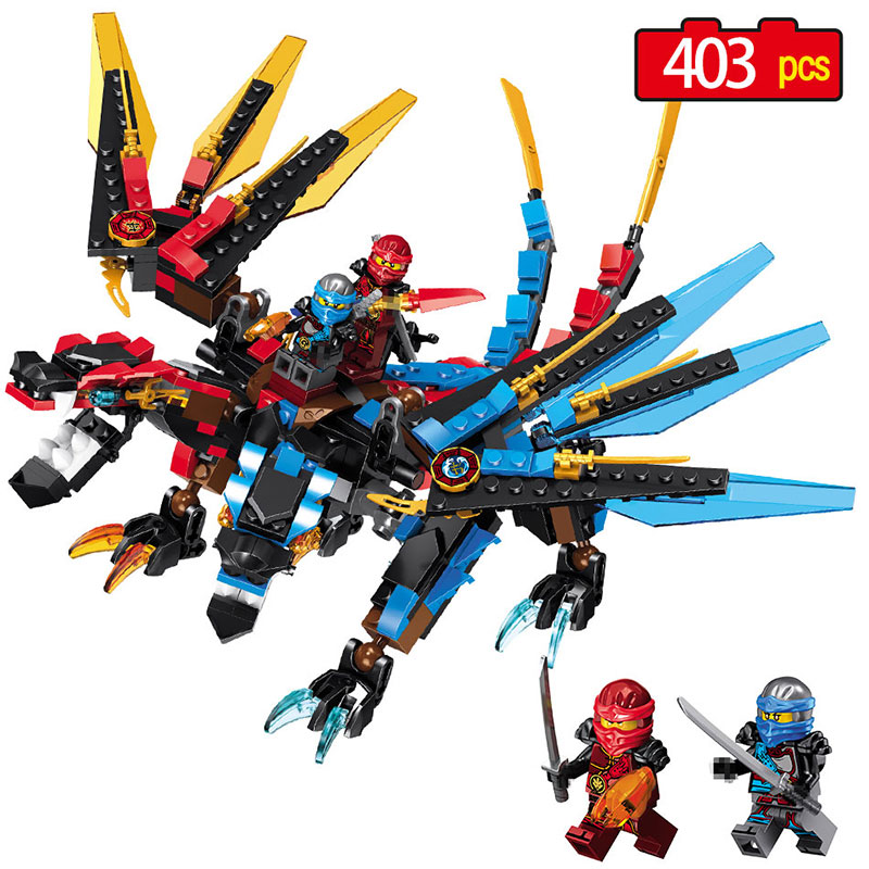 Funny Ninjagoes Dragon Building Block  for Children Compatible Legoe Ninjagoes Wu Nya Garmadon Ninja Kids Interesting DIY Toys 2018 hot ninjago building blocks toys compatible legoingly ninja master wu nya mini bricks figures for kids gifts free shipping