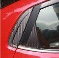 Горячая продажа! бесплатная Доставка окно фоновых положение треугольника углеродного волокна наклейка Для KIA RIO K2 2011 2012 2013