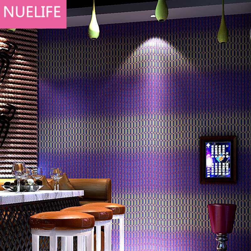 0.53x10m KTV flash wallpaper theme box bar living room bedroom 3D wave line striped pattern personalized reflective wallpaper free shipping personalized fashion figure puzzle 3d wallpaper salon bedroom wallpaper background bar ktv mural