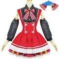 Anime Lovelive Love Live Maki Nishikino Cosplay Costume Lolita Princess Sweet Love Dress Candy Maid Dress New