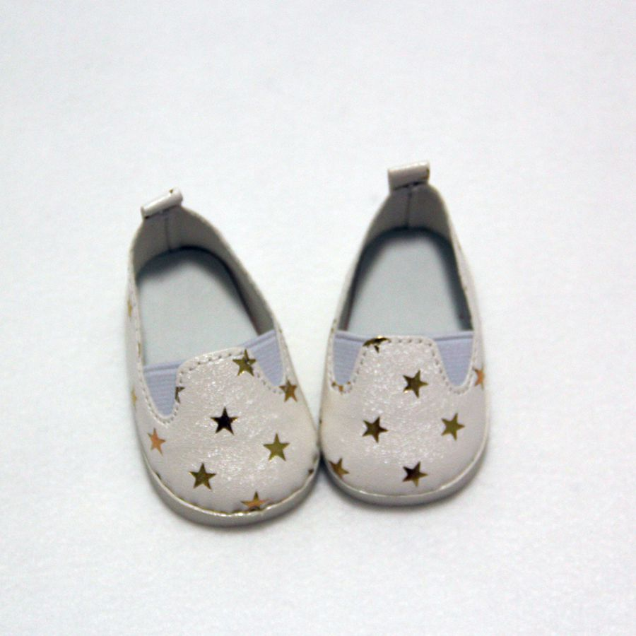 Fashion Black White Gold Star Mini Doll Shoes For 18 Inch Baby New Born Doll Accessories 43cm Dolls Toy Sport Boots in Dolls Accessories from Toys Hobbies