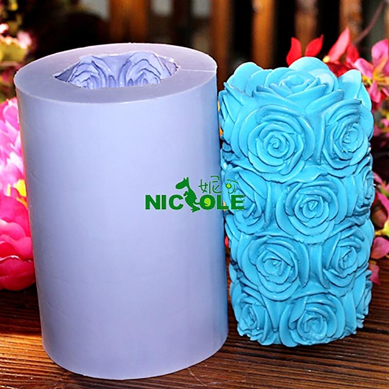 Molde de silicona Nicole para la vela de jabón hecha a mano que hace - Cocina, comedor y bar - foto 6