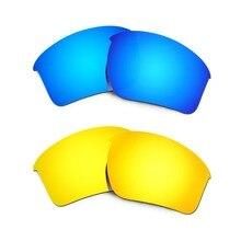 HKUCO Mens Replacement Lenses For Oakley Half Jacket 2.0 Blue/Titanium/Purple Sunglasses DMHhubs