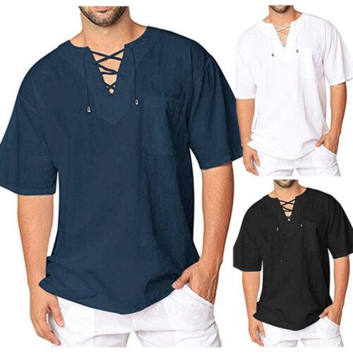 Men 39 s Summer T Shirt Thai Hippie Shirt V Neck Beach Top Festival Causal Tee Hot Sale in T Shirts from Men 39 s Clothing