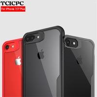 New For Iphone 7 Case Iphone 7 Plus Case Fundas TCICPC Luxury Acrylic Shockproof Transparent Case