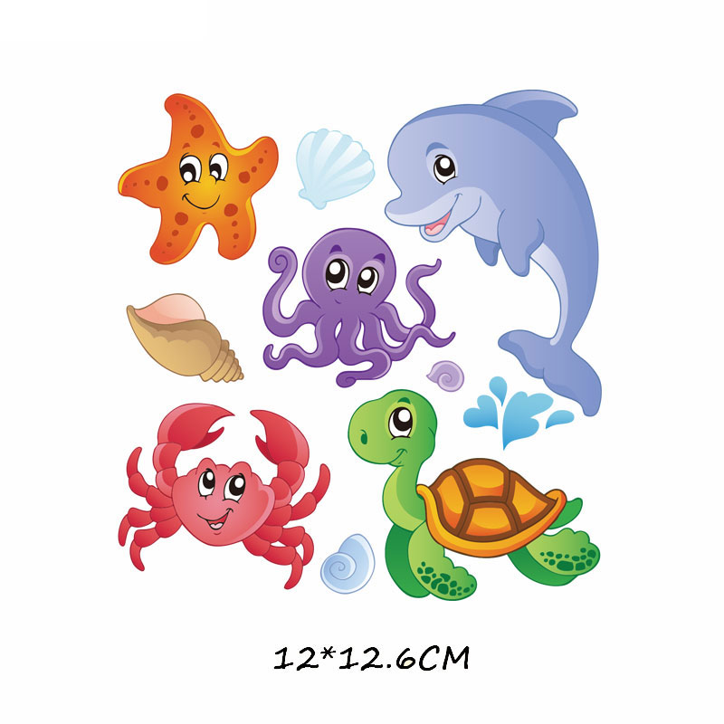 Железные милые нашивки в виде животных набор для детей Одежда DIY Футболка аппликация теплопередача виниловая нашивка единорога наклейки термопресс - Цвет: 588
