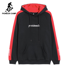 Pioneer Camp new spring fashion hoodies men brand clothing thick fleece warm sweatshirts male quality 100% cotton AWY802355