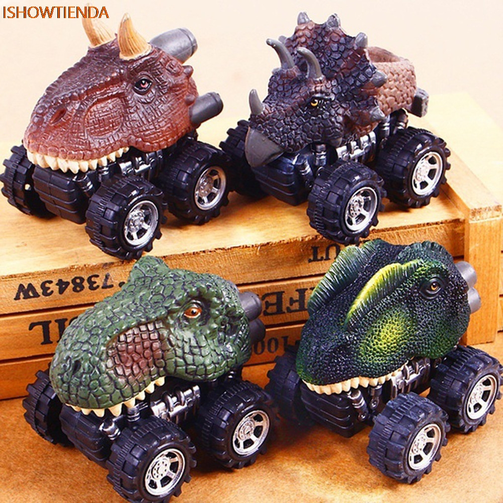 Children's Day Gift Toy Dinosaur Model Mini Toy Car Back Of The Car Gift Truck Hobby Funny KID Gift Drop Shipping chinese white copper silver feng shui yuanbao wealth money horse carriage statue
