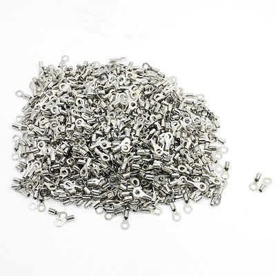 1000 Pcs RNB1.25-3.2 22-16 AWG Non-insulated Ring Terminals Connector Free shipping 1000pcs rnb1 25 8 awg 22 16 wire connector non insulated terminals cable lug