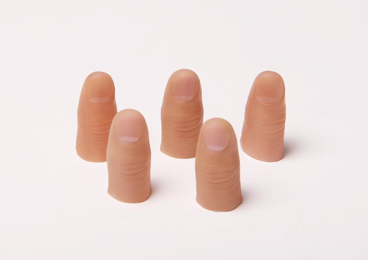 20pcs Hard Thumb Tip Finger Fake Magic Trick Close Up Vanish Appearing Finger Trick Props Toy Funny Prank Party Accessories