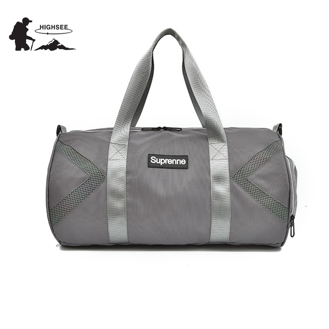 HIGHSEE Sport Bag Men Fitness Gym Bags Women Waterproof Outdoor Travel Handbags Shoes Sac De Sport Yoga Training Shoulder Bags