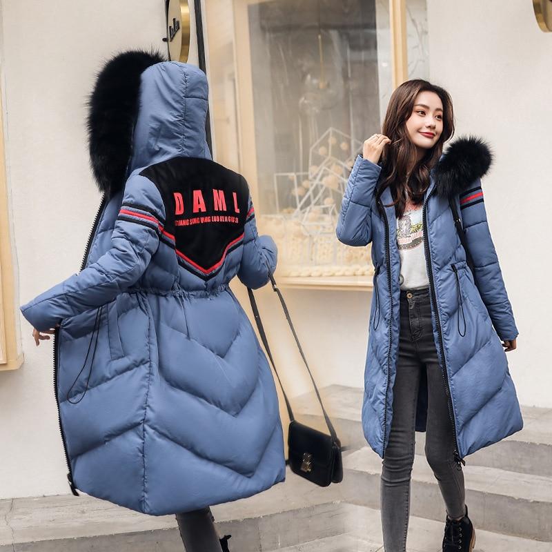 Cotone Beige Outwear blu Femminile Parka Tthickened Inverno