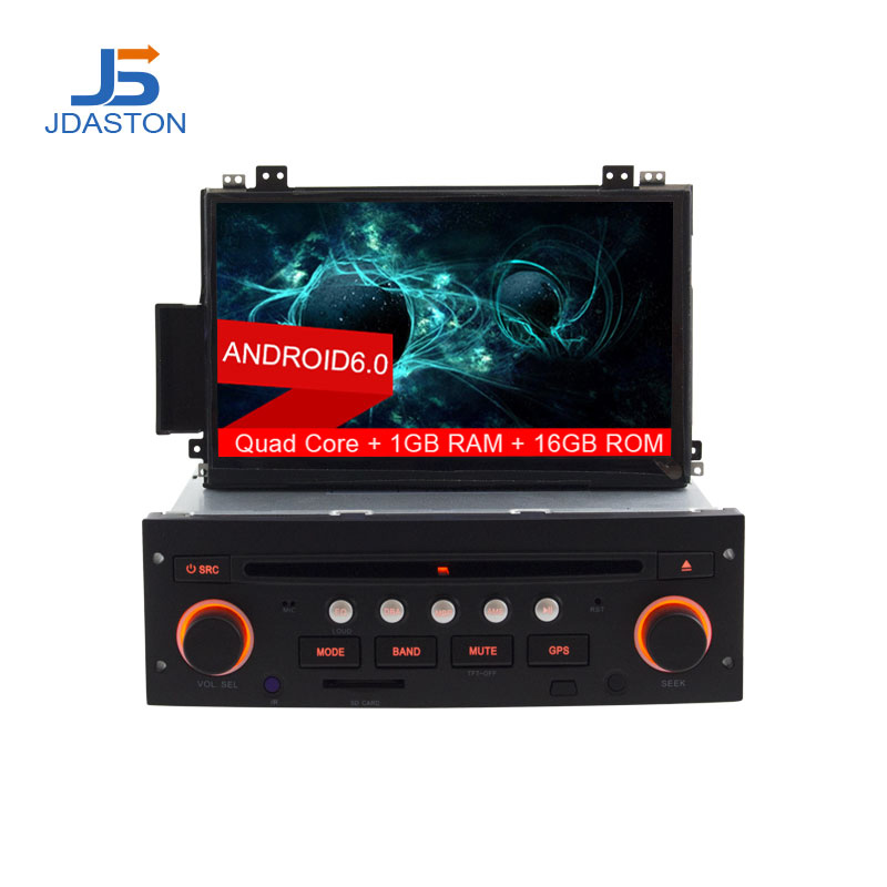 JDASTON 7 Inch 1 Din Android 6.0 Car DVD Player For Citroen C5 GPS Navigation Auto Radio Audio Wifi Multimedia Headunit Stereo цена