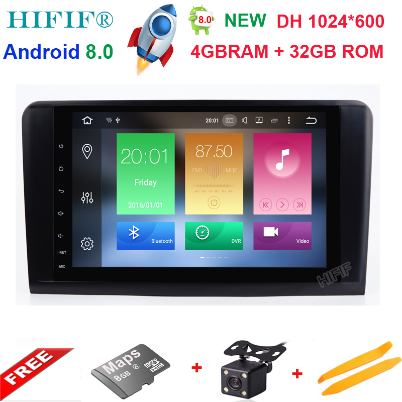 HIFIF Eight Core PX5 Android 8 0 Car Radio For Mercedes Benz GL ML CLASS W164