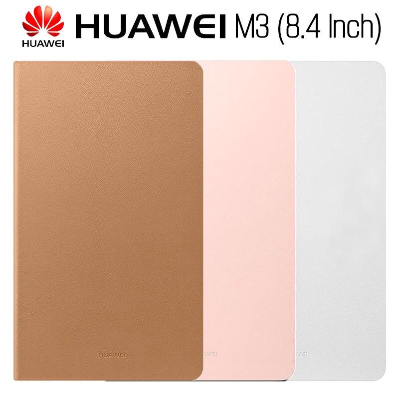 Cargadores de coche Huawei Mediapad M3 caso Original oficial Smart View HUAWEI M3 caso soporte Flip Funda de cuero función Tablet 8,4