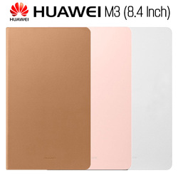 Huawei Mediapad M3 Case Original Official Smart View HUAWEI M3 Case Kickstand Flip Leather Case Function Stand Tablet Cover 8.4