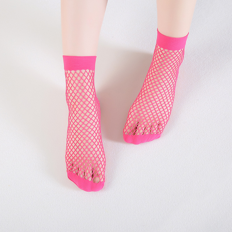 7 Colors Chic Streetwear Women's Harajuku Candy Color Breathable Fishnet   Socks   Sexy Hollow out Nets   Socks   Ladies Sweet Mesh